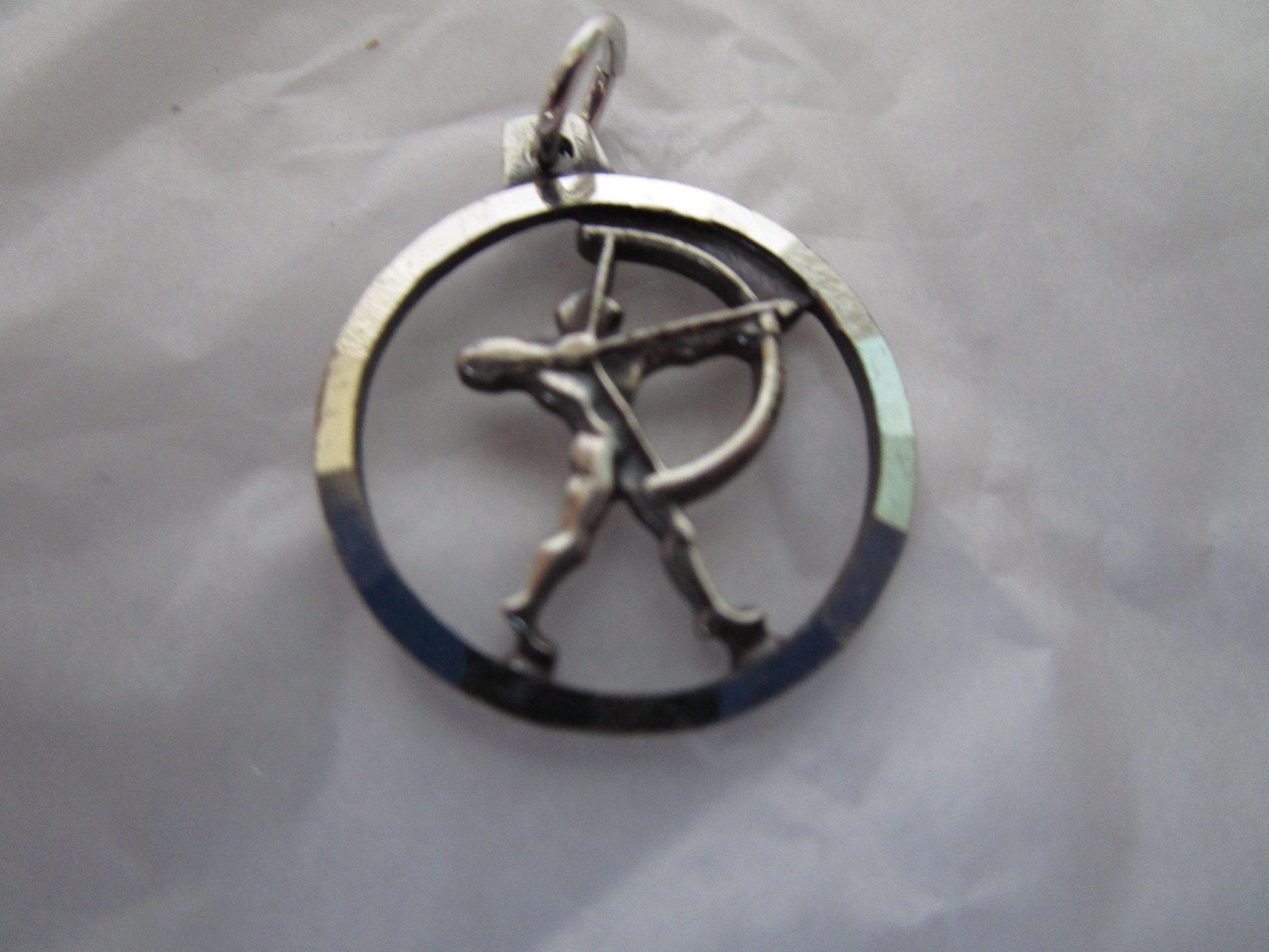 Vintage L W M L Enameled Charm or Pendant