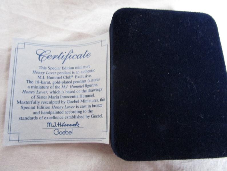 Vintage M I Hummel Velvet Jewelry Box for Special Edition  Honey Lover