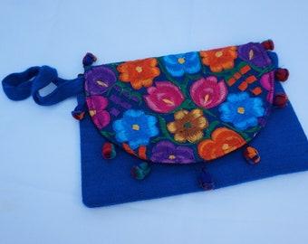 Blue Floral Handbag