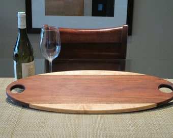 Handmade wood serving tray