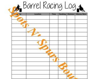 Barrel Racing Log