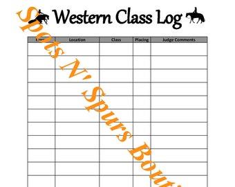 Western Class Log