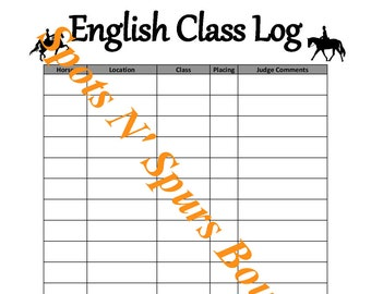 English Class Log