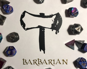 Dungeons and Dragons Decal - Barbarian