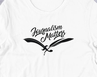Journalism Matters T Shirts, Hoodies & Tank Tops for Men, Women, Kids. The Pen Is Mightier Than The Sword, Funny Writer Tee, Journalist Gift