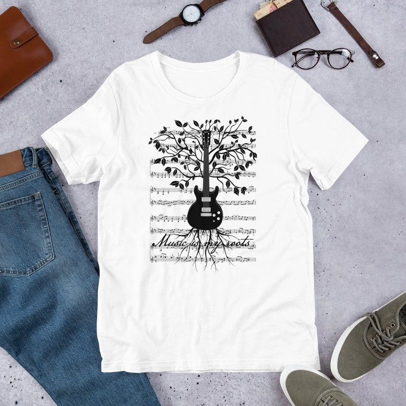 Music is My Roots   Guitar Tree Rock N Roll T Shirts Hoodies image 0