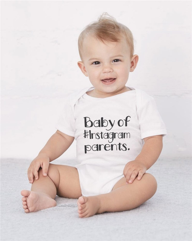 Baby of Instagram Parents  Funny Baby Onesie Bodysuit Baby image 0
