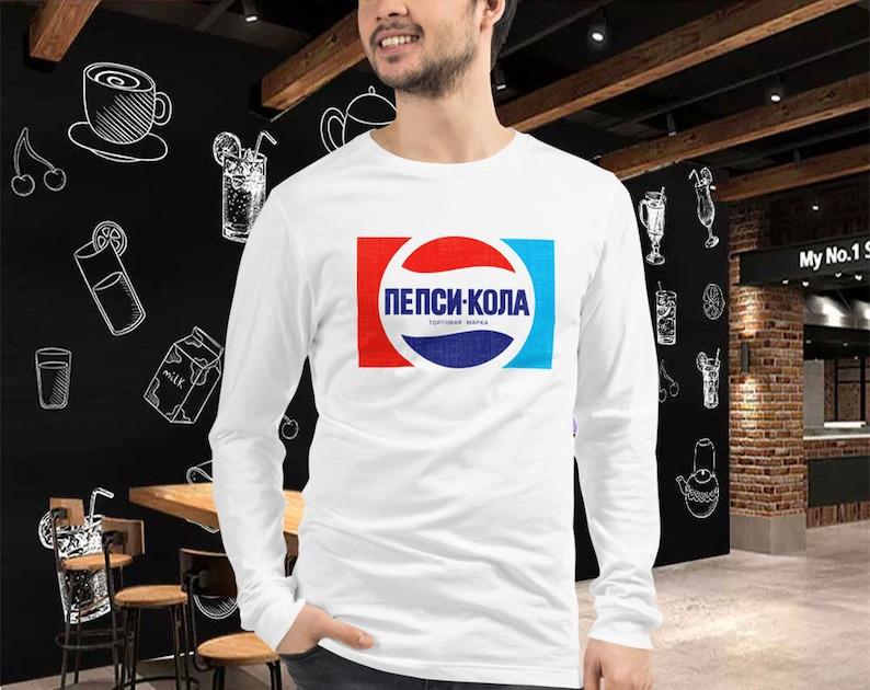 Pepsi Shirt  Vintage 70s Retro Style Unisex Long Sleeve Tee image 0