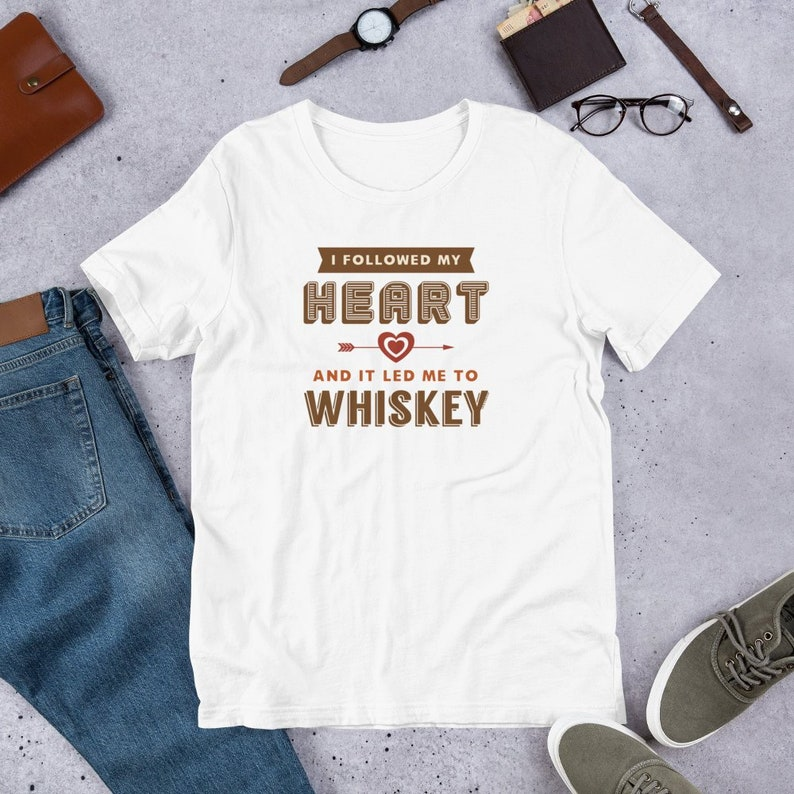 04f8b39a I Followed My Heart and It Led Me to Whiskey Funny T Shirts | Etsy