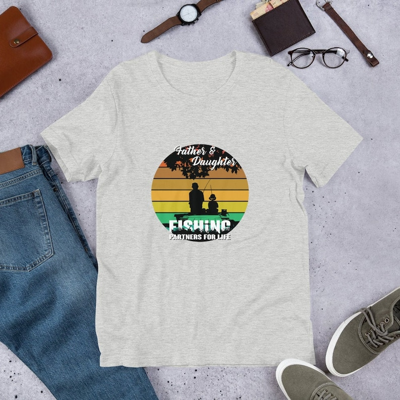 Father & Daughter Fishing Partners For Life T Shirts Hoodies image 0