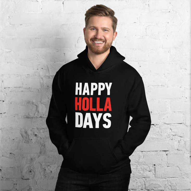 Happy Holla Days Funny Christmas T Shirts Hoodies & Tank Tops image 0