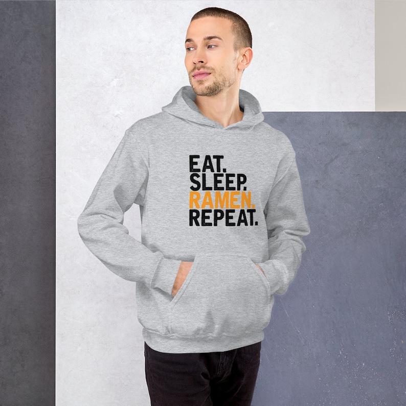Eat Sleep Ramen Repeat T Shirts Hoodies & Tank Tops for Men image 0