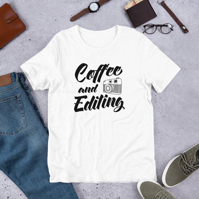 Coffee and Editing T Shirts Hoodies & Tank Tops for Men image 0