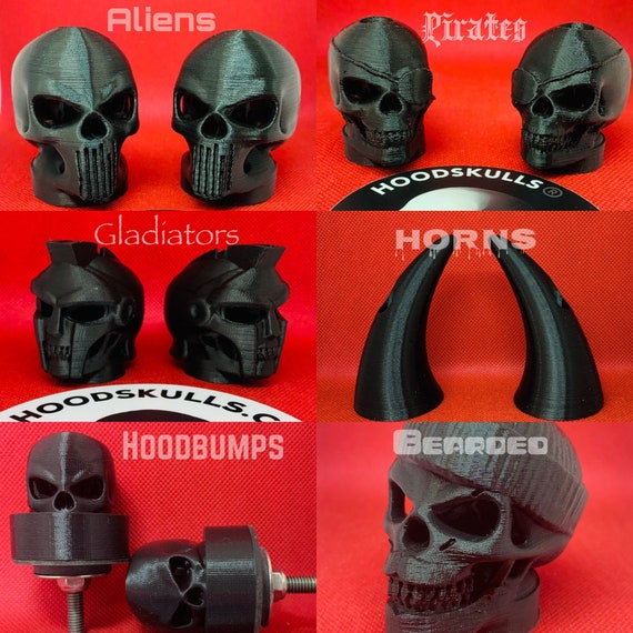 HOODSKULLS Devil Includes Set of Two Badass Accessory for Your Cool Jeep or Truck.