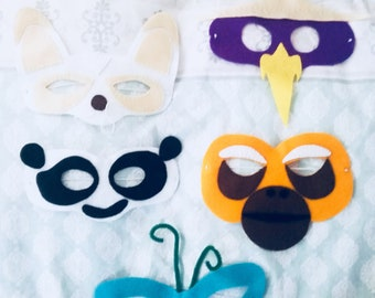 Children's Kung Fu Panda Felt masks