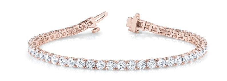 75d539667 5 Carat Diamond Tennis Bracelet Womens Diamond Bracelet | Etsy
