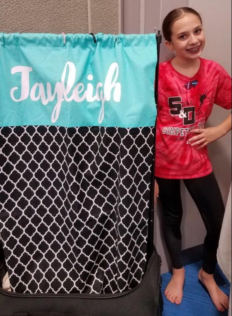 Dance Duffel Bag Privacy Curtain Simply Covered-Turquoise