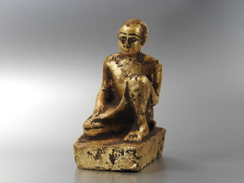 Egyptain Servant statue Stone quoted Gold Colour Unique and beautiful hand crafted