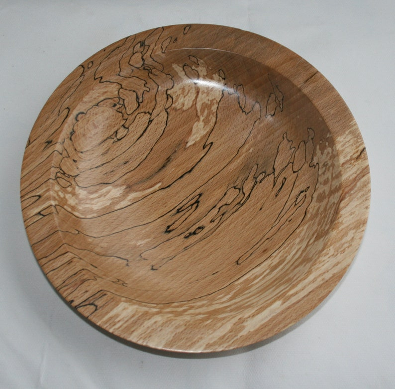 Wood platter in spalted beech image 0