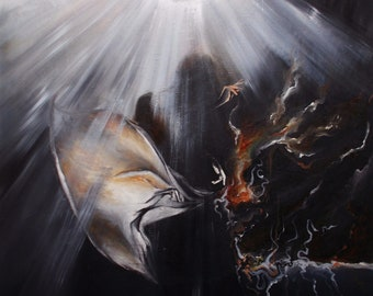 "oil on canvas ""angel Musician"""