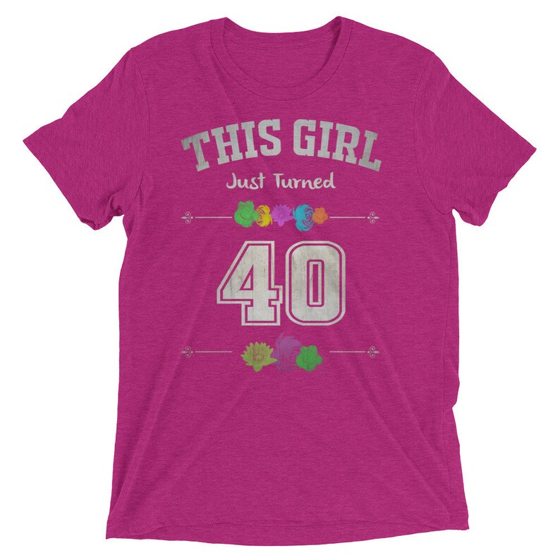 40 Years Old Birthday Gift Shirt For Women Celebrating Her