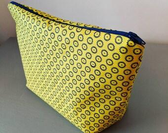 Sunshine Yellow Handmade Makeup/Cosmetic Bag