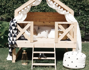 Unique Outdoor Furniture Daybed Luxury Play House Beach Bungalow Outdoor Playhouse Unique Furniture Kids Outdoor Furniture Small Home Montessori Bed Tiny House Etsy Outdoor Furniture Etsy