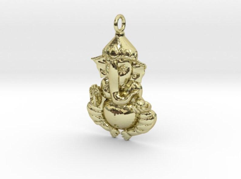 Yoga Pendant spiritual jewelry Solid Gold Ganesha Pendant Yoga jewelry yoga gifts
