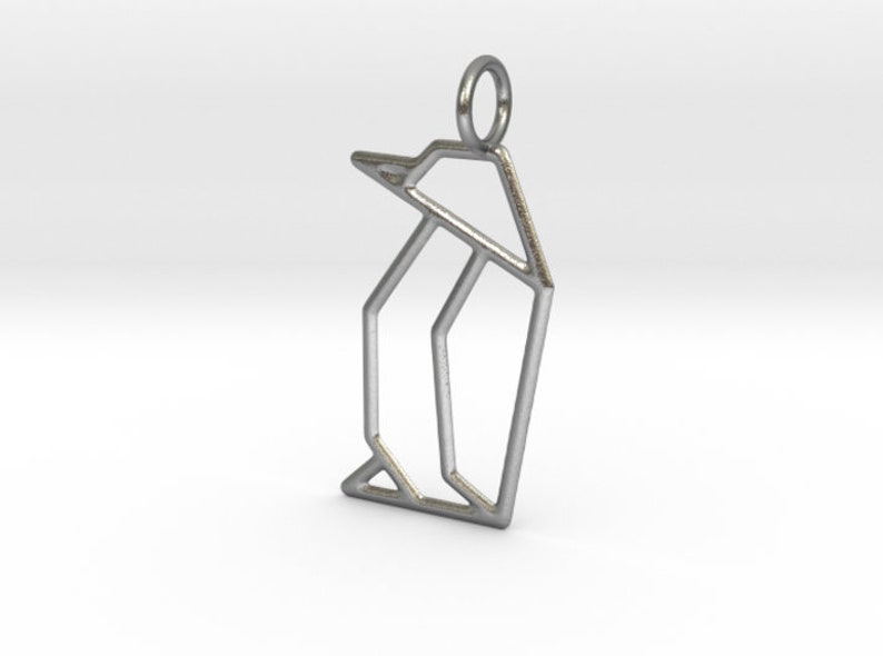 Origami necklace penguin gift penguin charm,cute penguin,gift for her Penguin