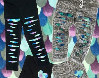 fe2c641535bfb mermaid joggers mermaid leggings ripped joggers distressed joggers girls  pants mermaid party baby joggers baby pants birthday gift toddlers