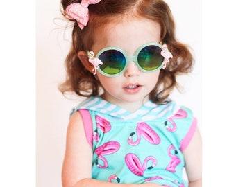 a6c4f18b40 flamingo sunglasses kids sunglasses custom sunglasses toddler sunglasses  babies birthday gift kids shades party favor summer big sister