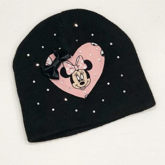 26483cd57de Minnie Mouse hat Minnie Mouse winter hat girls hat baby hat