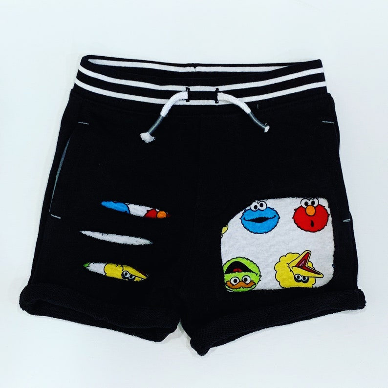 2454e5ad1e9ca Sesame Street shorts Sesame Street pants boys shorts Sesame   Etsy