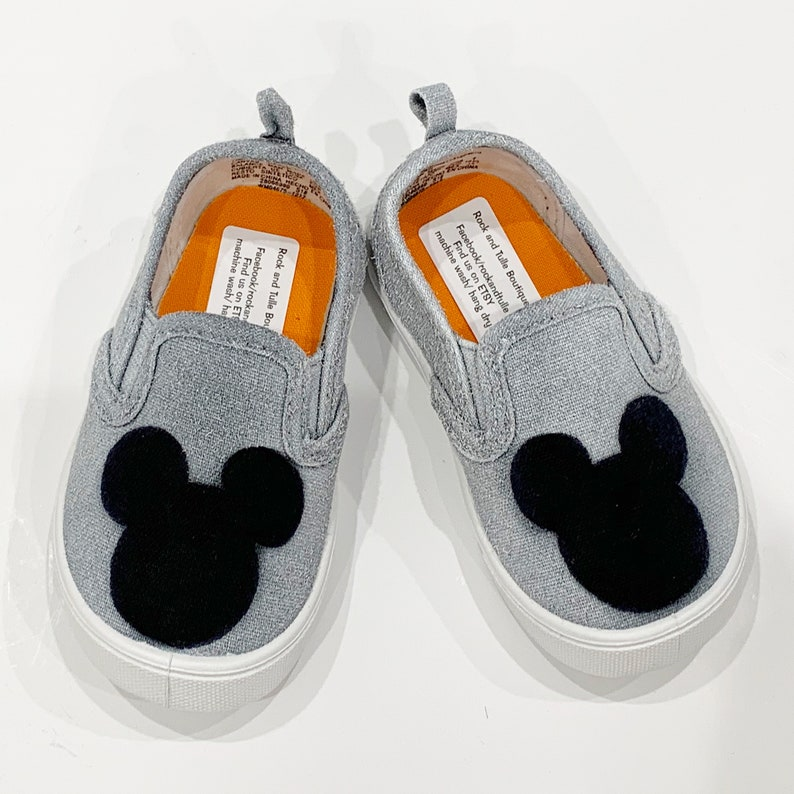 7645083efbc2f Mickey Mouse shoes slip on shoes Mickey Mouse party canvas girls shoes boys  shoes custom toddler shoes baby shoes disney world kids shoes