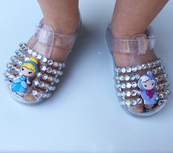 Princess Toddler Birthday Theme Baby Shoes Sparkle Jelly Party Bedazzled Disney Girls Sandals Cinderella Personalized CQroWBExde