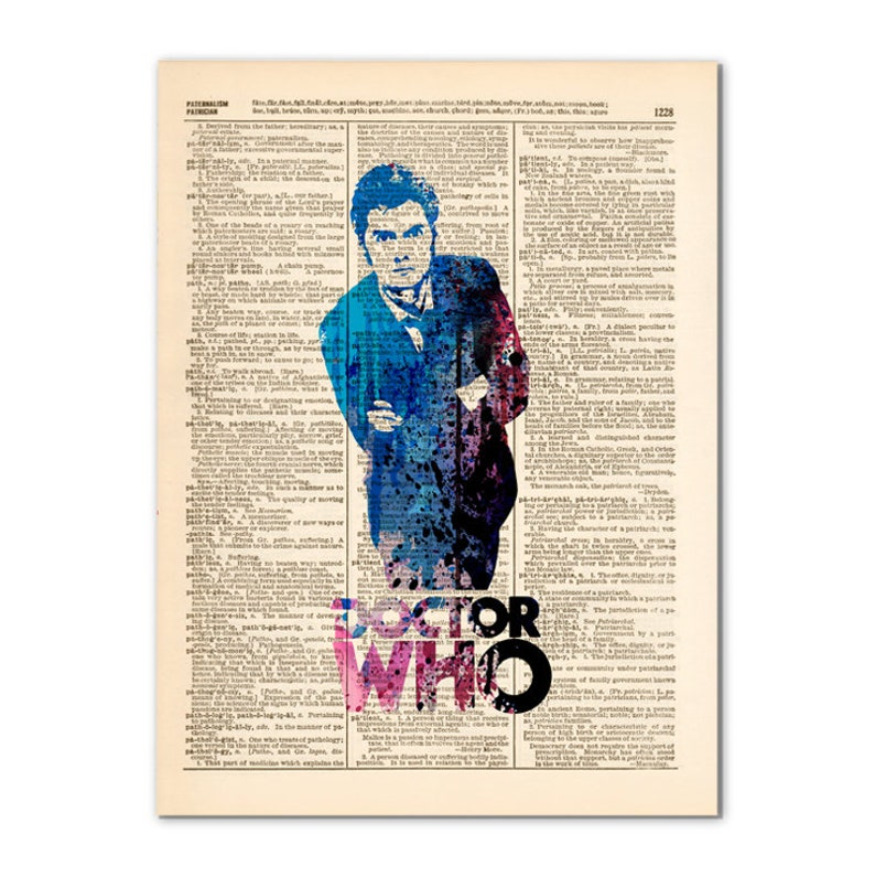 Art print on Dictionary page POP culture poster00479 SUPERHEROES