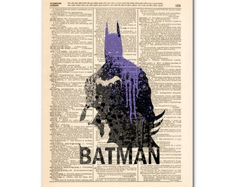 Art on Dictionary page - SUPERHEROES ,POP culture poster00429
