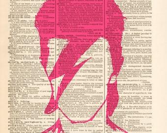 Dictionary Art print - DAVID BOWIE - Rock art, poster00538