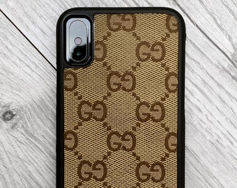 fb7b6ccddc6 Authentic Re-purposed Gucci iPhone X 10 Case Handmade Custom Made Vintage  Monogram Bag Leather red blue yellow brown Canvas 6 7 8 plus XR xs