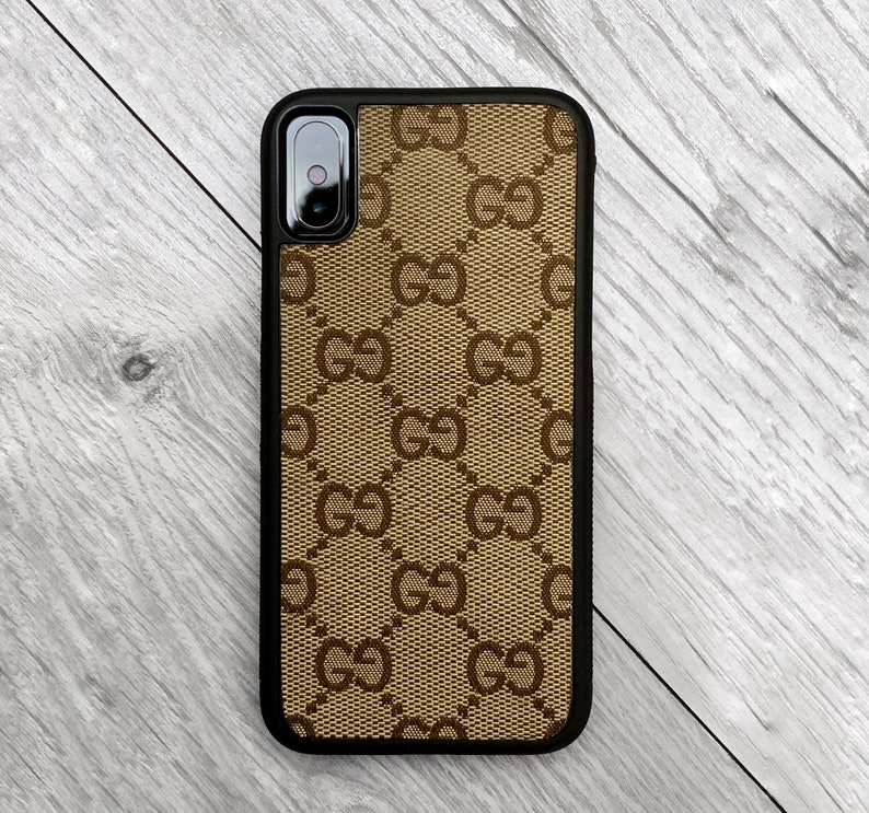 a7fd3c1fedec7 Authentic Re-purposed Gucci iPhone X 10 Case Handmade Custom Made Vintage  Monogram Bag Leather red blue yellow brown Canvas 6 7 8 plus XR xs