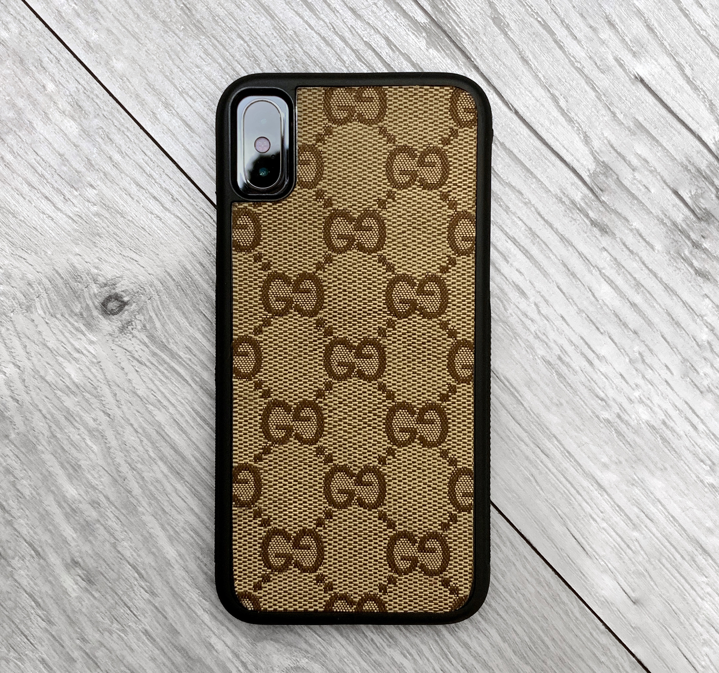 low priced 2e917 ede1b Authentic Re-purposed Gucci iPhone X 10 Case Handmade Custom Made Vintage  Monogram Bag Leather red blue yellow brown Canvas 6 7 8 plus XR xs