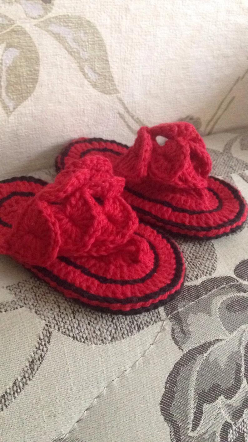ec65b67e23f Crochet Baby Sandals Girl Shoe Baby Girl Sandal Infant