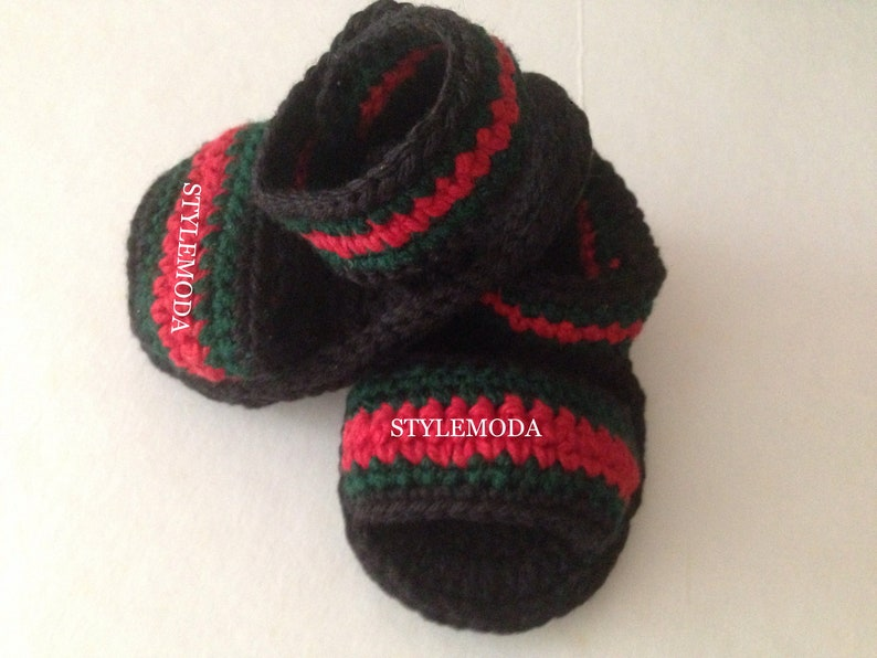 fc369f2dde4 Ready to ship GUCCI style baby flip flops baby crocheted