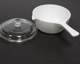 2 pieces Pyrex Corning Ware Sauce Pan  P-89-B 2 1/2 Cup with glass lid P- 81- C