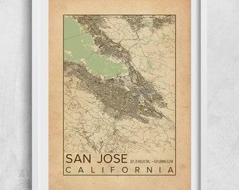 San jose california etsy more colors san jose malvernweather Choice Image