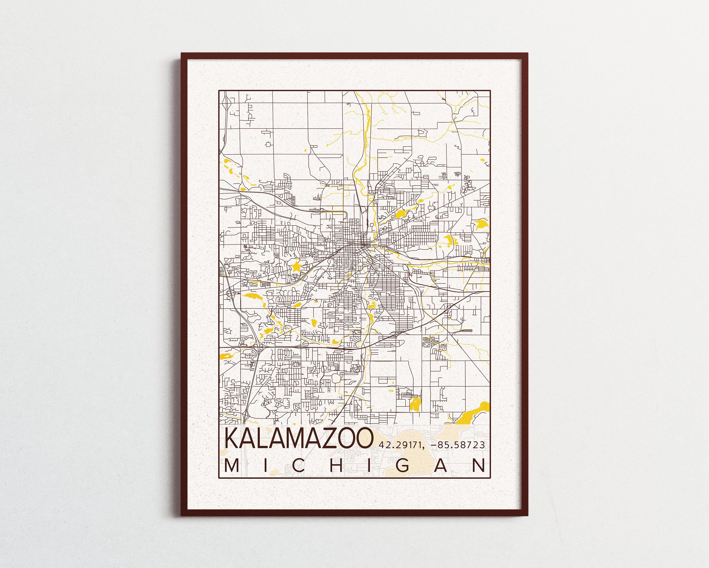 Kalamazoo Map Western Michigan University Poster Print City of ... on wayne county michigan map, willow run michigan map, berrien springs michigan map, moline michigan map, benzonia michigan map, hoxeyville michigan map, davenport michigan map, grand forks michigan map, benton harbor michigan map, great falls michigan map, port huron michigan map, sault st marie michigan map, knoxville michigan map, dowagiac michigan map, kalamazoo gis maps, kalamazoo mi, muncie michigan map, scotts michigan map, albion college michigan map, new york michigan map,