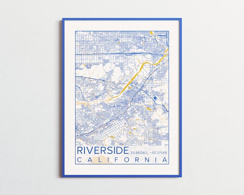 University California Map.Riverside California Map Uc Riverside Poster Print City Map Highlanders Scotty Bear Riverside California Custom City Maps University College