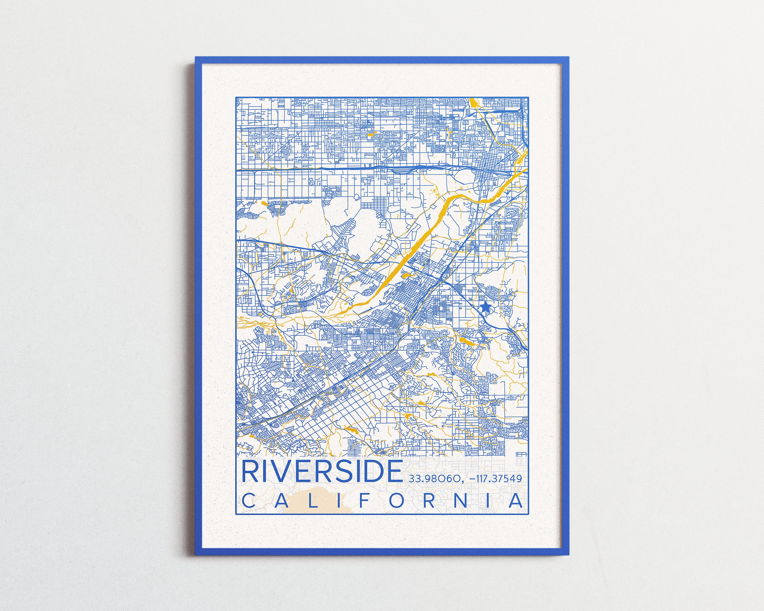 Universities And Colleges In California Map.Riverside California Map Uc Riverside Poster Print City Map