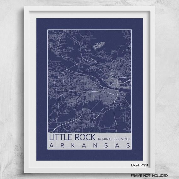 aff908a4f40 ... Little Rock Arkansas City Map Print Poster Blueprint Architect Big Rock  Pulaski Custom City Map Art