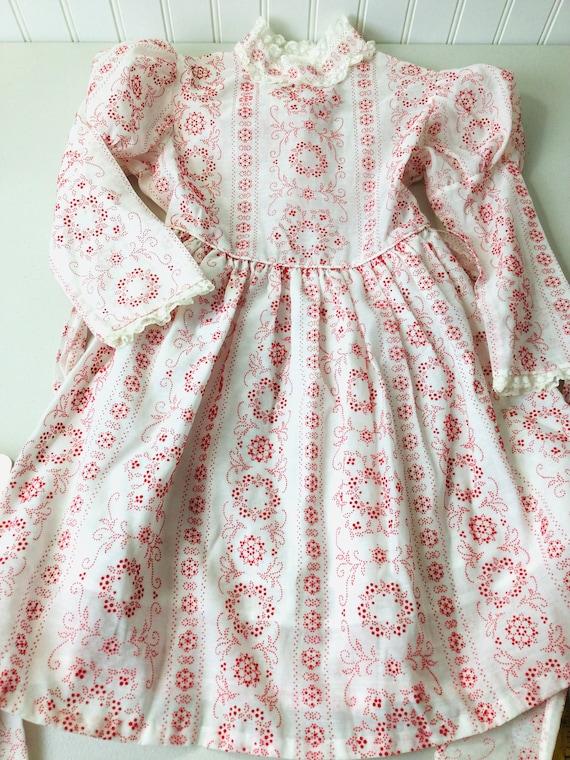 Vintage 70s Girls Prairie Dress Gunne Sax Style R… - image 2